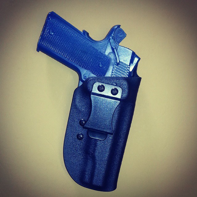 1911 i.w.b. holster with polymer over belt clip