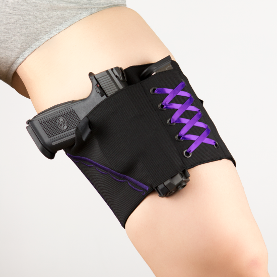 Can Can Concealment® Garter Shebang (Purple) Small